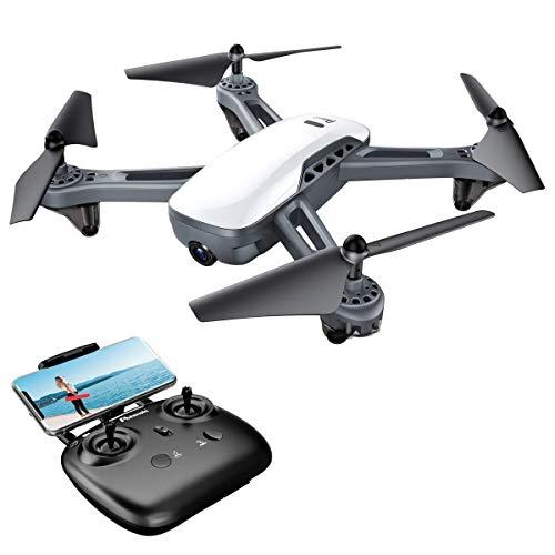 Potensic Drohne mit Dual-GPS 1080P HD Kamera RTH Funktion RC Quadcopter, PV WiFi 5.0 GHz Höhe- halten-Funktion, EIN-Tasten-Start und -Landen, Headless-Modus-Funktion, Ideal für Anfänger - D50