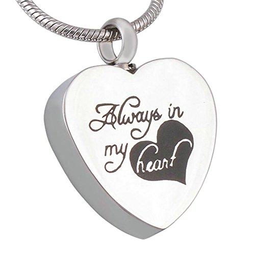 Mini Urne Schmuck Feuerbestattung Asche Anhänger mit Halskette Füllflasche Herz