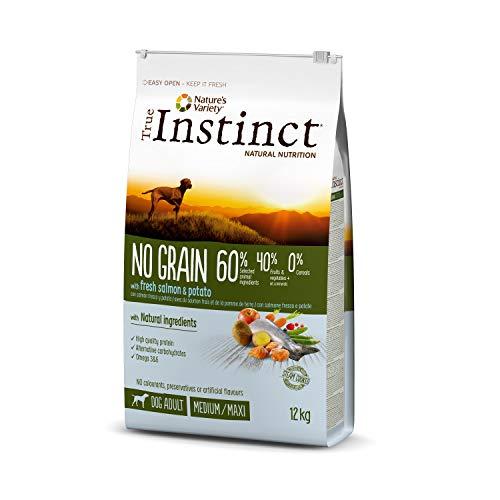 True Instinct sans Céréales Adult Medium-Maxi Saumon Nourriture pour Chien 2 kg