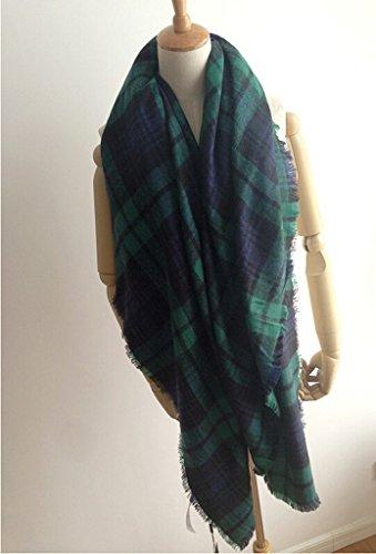 vlunt Oversized automne hiver femme enveloppement écharpe longue doux Grosse écharpe classique 088-04