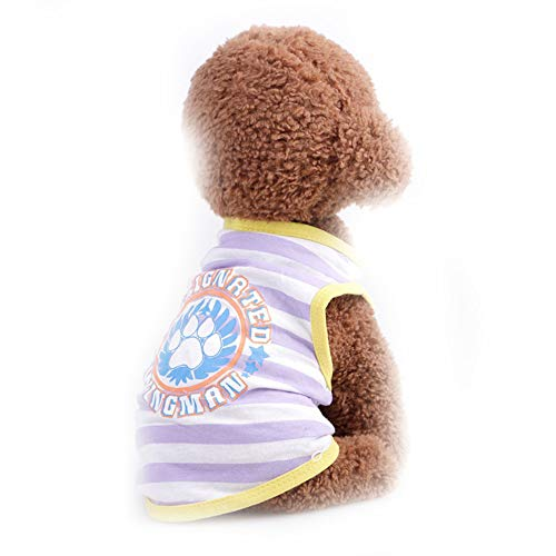Sangni Atmungsaktives T-Shirt Weste Streifen, flach lila, L -