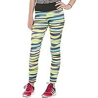 adidas YG AIS Tight - Mallas para niña, color negro/amarillo, talla 170
