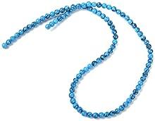 4mm Suelta Cuentas Hebra Abalorios De Gema Piedra Preciosa Turquesa Redondo Azul