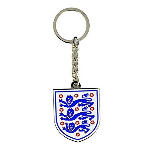 Fußball-Schlüsselanhänger mit England-Design Weiß/Blau/Rot/Silber