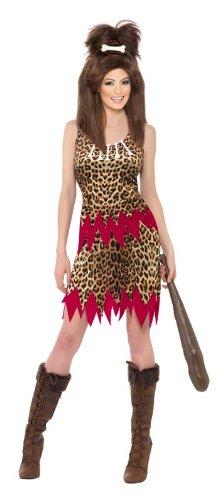 Smiffy's - Kostüm Höhlenmensch für Damen Steinzeit Urmensch Neanderthaler (Kostüme Kostüm Uk Höhlenmensch)