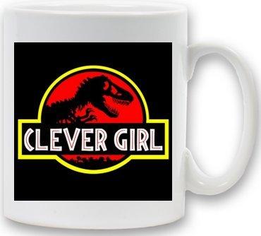 Jurassic Park (Clever Girl) 90s Logo Mug Gift