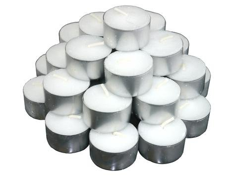 8 Hours Tea Lights, 8 hours burning time, highest quality, pack of 50, best value