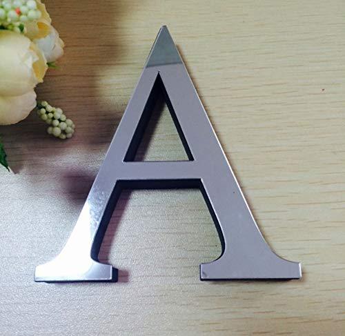 piegel Wand Aufkleber Alphabet Home Decor Logo Für Wand Home Dekoration Acryl Brief (Single-Paket) Kann Frei Zu Buchstabieren, Wählen Sie Den Brief Des Buchstaben 26 Buchstaben-A ()