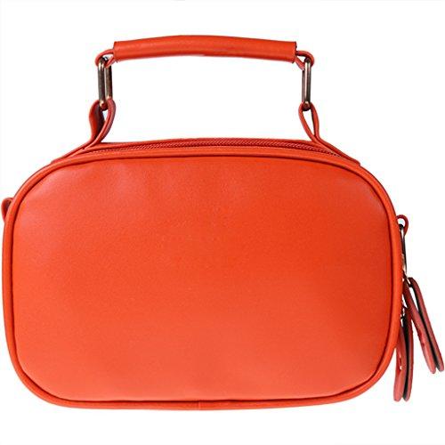 Tote Handtasche - All4you Frauen PU Leder Handtaschen leichte Tote Gelegenheitsarbeit Bag(Orange) (Schulter Drucken Tasche Unterschrift)