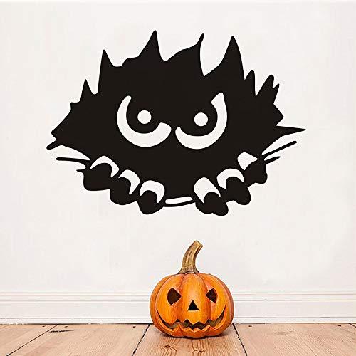 yuandp Monster Peeking Wandaufkleber Für Kinderzimmer Halloween Dekoration, Scary Monster Stalking Wandtattoos Dekoration Zubehör 81 * 58 cm