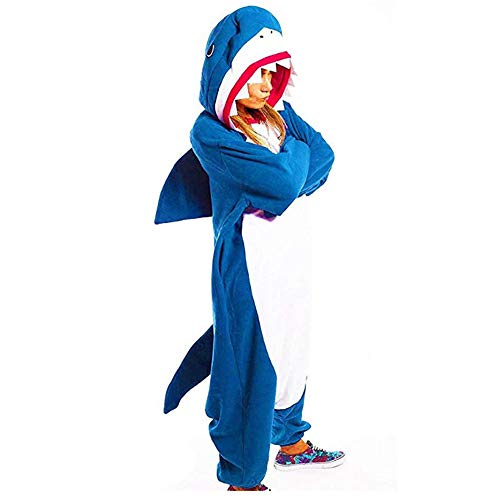 Unisex Adult Cosplay Kostüm, Shark Siamese Pyjamas, Tier -