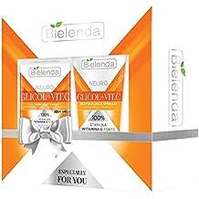 Set de regalo de Bielenda Neuro glicol + Vit C crema hidratante + Face Wash Emulsión