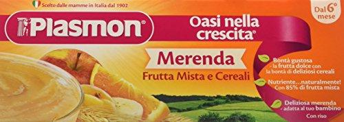 Plasmon Merenda Frutta Mista e Cereali - 24 Vasetti da 120 gr