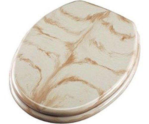 ADOB WC Sitz Klobrille Marmor Edelstahlscharniere, beige,83078