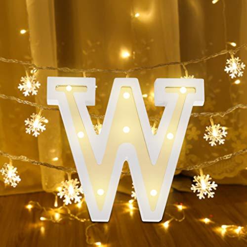 be Lichter Alphabet, LED Brief Licht Weißen Plastikbuchstaben Hängend Stehen Lampe, Led Dekoration für Geburtstag Party Hochzeit & Urlaub Haus Bar (W) ()