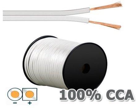 30m Lautsprecherkabel 2 x 2,5mm² weiß