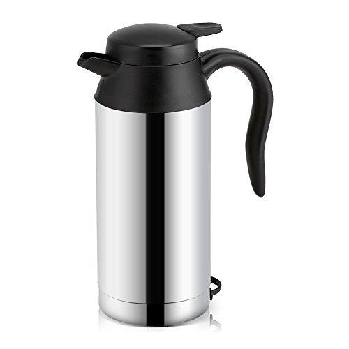 Auto Wasserkocher Edelstahl 12V Zigarettenanzünder Reisewasserkocher für Wasser Kaffee Getränke Heizung