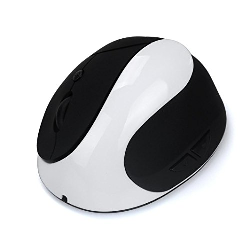 Mäuse, ourmall aufladbare 2.4Ghz kabellose ergonomische vertikale Maus mit 7Tasten 1600dpi für PC Laptop (Schlüssel-tastatur Staubschutz 88)