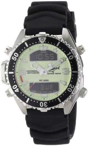 Chris Benz CB-D-NEON-KB - Reloj digital de cuarzo unisex con correa de caucho, color negro