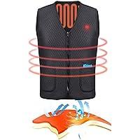 Elektrische beheizte Weste Größe verstellbar beheizte Weste, Winter warme Weste einstellbar USB laden beheizte Kleidung zum Wandern Camping