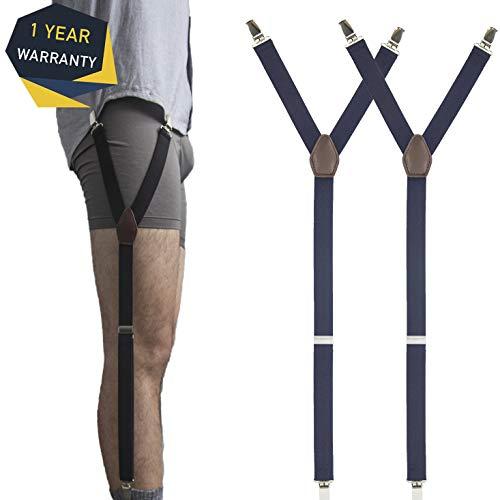 c15fe3cf7ba MLM Bretelles Homme Shirt Stays Réglable pour Chaussettes Antidérapant pour  Homme (Bleu)