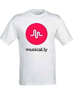 T-Shirt Musical.Ly - Musically Modello Uomo, Donna, Bambino