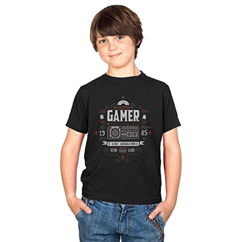 Texlab The Master Gamer - Kinder T-Shirt, Größe XL, Schwarz Wonderboy-shirts
