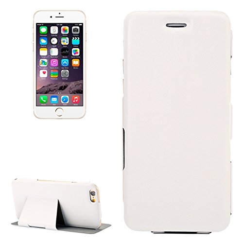 Phone case & Hülle Für IPhone 6 / 6S, Horizontal Flip Ultra Thin Leder Tasche mit Halter ( Color : Magenta ) White