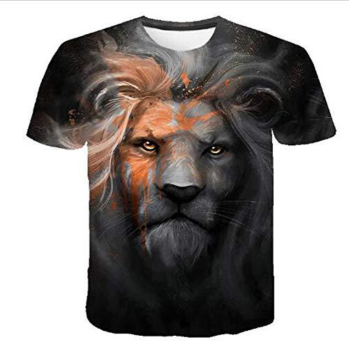 Bedruckte Herren T-Shirts für den Sommer Vintage und Urlaub Lässige Neuheit Cool Travel T-Shirt mit kurzen Ärmeln,Casual 3D Cartoon-9 Schwarz XL (Cookie Cougar Cutter)