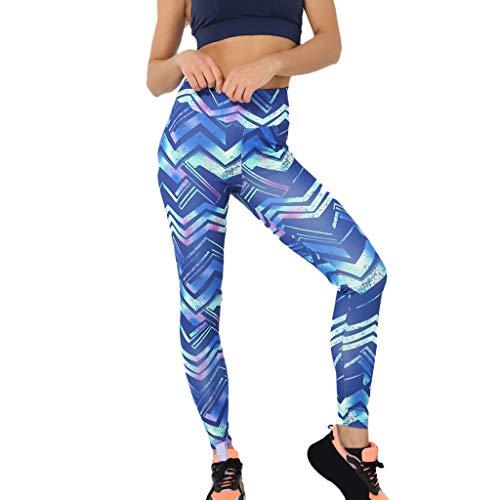 YCQUE Damen Yoga Leggings Hose, Frauen Casual Geometric Print Hohe Taille Yoga Laufsporthose, Hose Lauf-Leggings Trainingshose, Skinny Leggings, Push Up Cropped Hose Lange Laufhose -