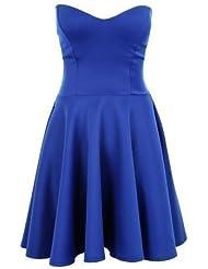Branded - Robe de soirée Sapphire coupe patineuse bustier pour femme