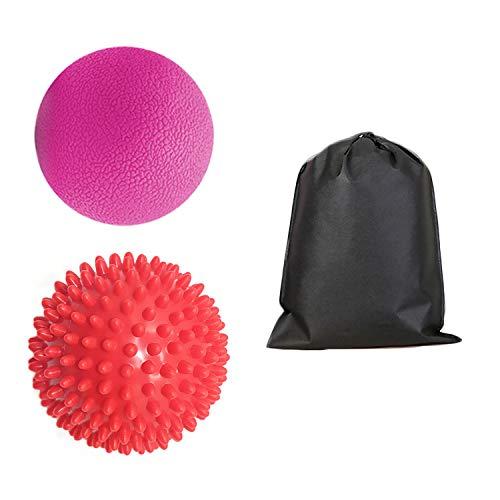 1 stücke Massage Ball + 1 stücke Spike Massage Roller Ball Massagegerät mit Aufbewahrungstasche für Muskelknoten Myofascial Release Trigger Point Therapie (Spike Roller Ball Massage)