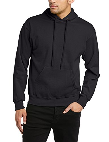 Fruit of the Loom 62-208-0 - Sweat-shirt à capuche - Hommes - Noir (Black) - Taille: M