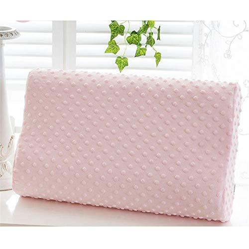KGGOPREAn 3 Farben Schaum Gedächtnis Orthopädisches Kissen Reise Schlaf Latex Nackenkissen Rebound Schwangerschaftskissen Pink See Below