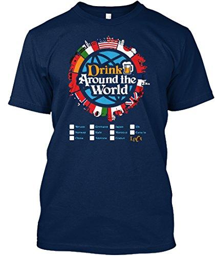 teespring Novelty Slogan T-Shirt - Drink Around The World