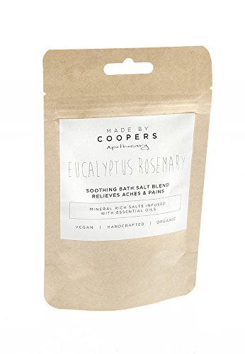 Aromatherapy-Eucalyptus-Rosemary-Soothing-Bath-Salt-Blend-With-Essential-Oils-to-relieve-muscular-aches-and-pains-By-Made-By-Coopers-100g-Trial-Size-Bag