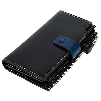 Yahoho Damen groß Kapazität Luxus Wachs echtes Leder Geldbörsen mit Reißverschluss-Tasche(Geschenk Verpackung)