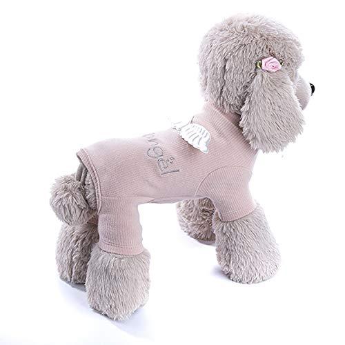 Haustier Hundemäntel 4 Beine Welpen Katze Baumwolle Kleidung Jacke Pullover Winter Zubehör Warm Customes (Color : Pink, Size : L)