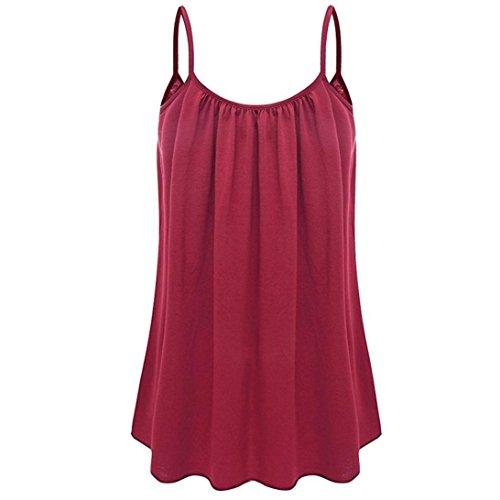 Top SANFASHION Damen Sommer Shirt Sleeveless Weste Tank Casual Tops T-Shirt Bluse (Kragen, Button-down-shirt Punkt)