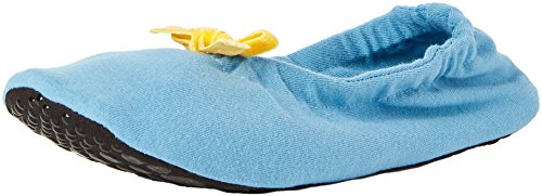 Nur Die Damen Freizeitsocken Ballerina Haussocke, Blau (Himmel 126), 42