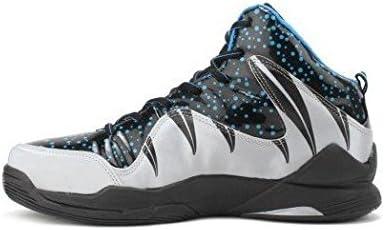 Nivia Heat Basketball Shoes, UK 8 (Black/Grey)