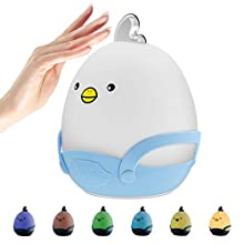 Kids Led Rechargeable Night Light - Children's Portable Bedroom Night Lamp with Touch Sensor, Warm Light, and 7-Colour Breathing Modes