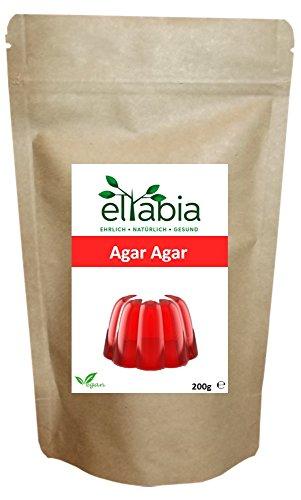 Agar Agar Pulver 200g Standard Pack vegane Gelatine Geliermittel Verdickungsmittel E406 eltabia