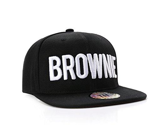 Blackie/Brownie Haar Farbe Hip Hop Snapback Baseball Cap/Hat, baumwolle, brownie, Einstellbar