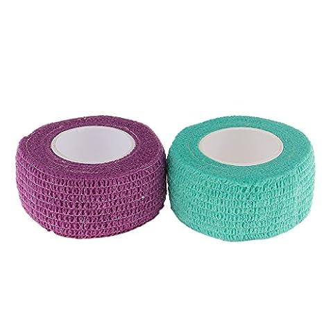 MagiDeal 2 Rouleaux Bandages Pansement Auto-adhésif Ruban Soin Protège d'ongle Doigt Outils pour Nail Art