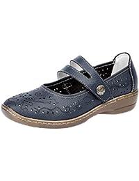 Boulevard Charlotte Ladies para mujer piel Mary Jane zapatos Bronce, color azul, talla 38 EU