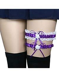 3c07706bbe Cinturones anillo y pata de encaje novia de la boda 2pcs Set de liga  muchachas de