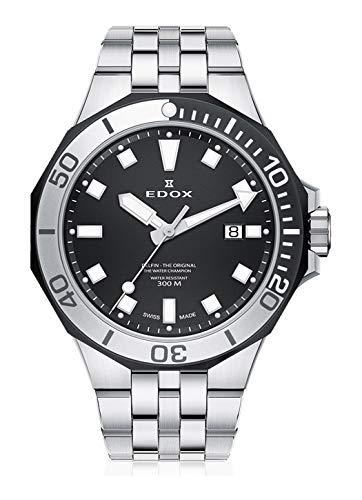 905c931e6a83 Edox Herren-Armbanduhr Delfin - The Original Datum Analog Quarz 53015 357NM  NIN