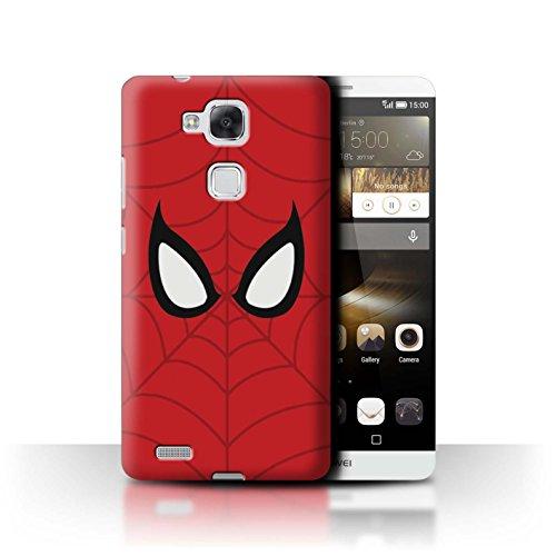Stuff4® Hülle/Case für Huawei Ascend Mate7 / Spider-Man Maske Inspiriert Muster/Superheld Comic-Kunst Kollektion