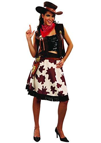 Ciao 16085 - Rodeo Girl, Taglia M, Marrone/Bianco/Rosso